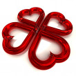 Four red heart shape — Stock Photo #40563933