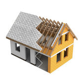 Roofing construction house design zigzag transition — Stock Photo