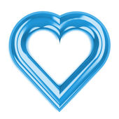 Isolated blue heart shape front view — Stock Photo