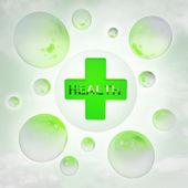 Moyale带光泽气泡在空气与耀斑的健康图标 — 图库照片