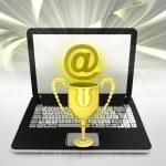 Internet surfing on laptop — Stock Photo #40570891