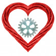 Red pipe shaped heart — Stock Photo #40572513