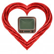 Red pipe shaped heart — Foto de Stock