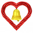 Red pipe shaped heart — Stock Photo #40573207
