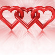 Red heart shape — Stock Photo #40576967