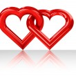 Red heart shape — Stock Photo