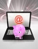Internet surfing on laptop — Stock Photo