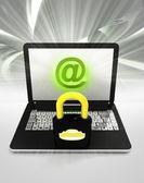 Internet surfar på laptop — Stockfoto