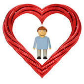 Red pipe shaped heart — ストック写真