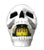 Human skull head — Stock Photo