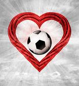 Corazón rojo tubo en forma de — Foto de Stock