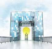Yellow bulb gateway building — Stock Photo