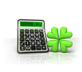 Happiness icon with positive business calculations — Stock Photo