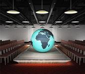 Africa earth globe situated on fashion podium — Stock Photo