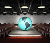 America earth globe situated on fashion podium — Stock Photo