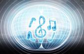 Music sound stuck in energy capsule — Stock Photo