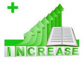 Book education on green rising arrow graph vector — Wektor stockowy