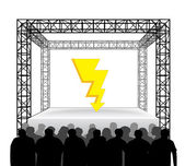 Thunderbolt on festival stage — Stock Vector