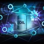 Постер, плакат: Oil barrel in business world transfer network
