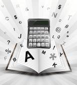 開いたブックの計算 — ストックベクタ