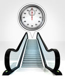 Stopwatch in bubble above escalator leading to upwards concept — Stock Photo