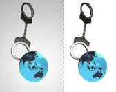 Asian earth globe in chain as criminality concept double — Stock Photo