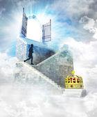 Královská přístup na vrcholu s vstupní brány — Stock fotografie