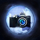Take pictures of Asia countries at cosmic view concept — Stock Photo