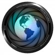 Постер, плакат: America earth globe in shutter