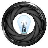 Light bulb in shutter — Vetorial Stock