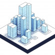Isometric view to isolated office city — Stock Photo #45709901