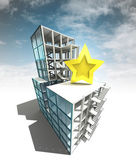 Top rated concept of architectural building plan with sky — Photo
