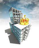 Royal concept of architectural building plan with sky — Stock Photo