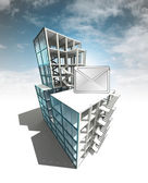 Information message of architectural building plan with sky — Foto Stock
