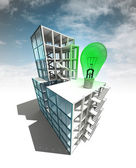 Sustainable development concept of building plan with sky — Stock Photo