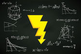 Energy strike on blackboard — Wektor stockowy