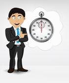 Stopwatch in bubble idea concept — Stock Vector