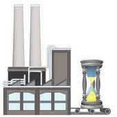 Песочные часы на завод транспортного ремня — Cтоковый вектор