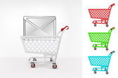 Email message in shopping cart — Stock Vector
