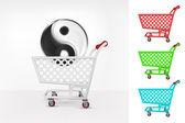 Harmony icon in shopping cart — Stock Vector