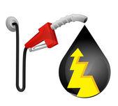 Energie staking in de daling van de olie — Stockvector