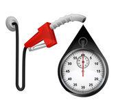 Stopwatch in oil drop — Vettoriale Stock