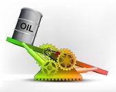 緑豊かなエリアに油のバレル — ストックベクタ