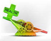 Health icon in green area — Cтоковый вектор