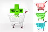 здоровье крест в корзину — Cтоковый вектор