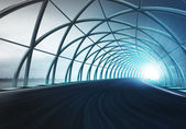 Steel arch construction — Stock Photo