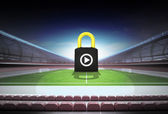 Defensive play as padlock concept — Stock Photo