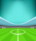 Stadium midfield view — Stock Vector