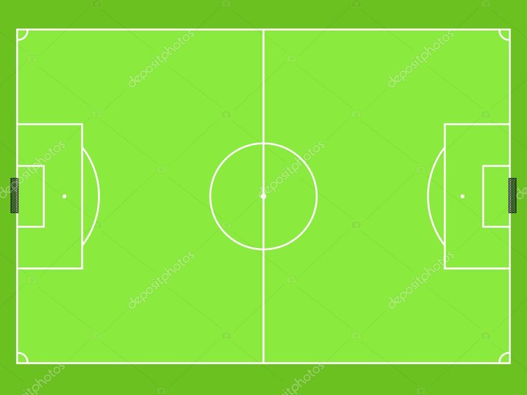 Футбольное поле сверху схема