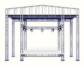 Steel stage construction — Stock Photo